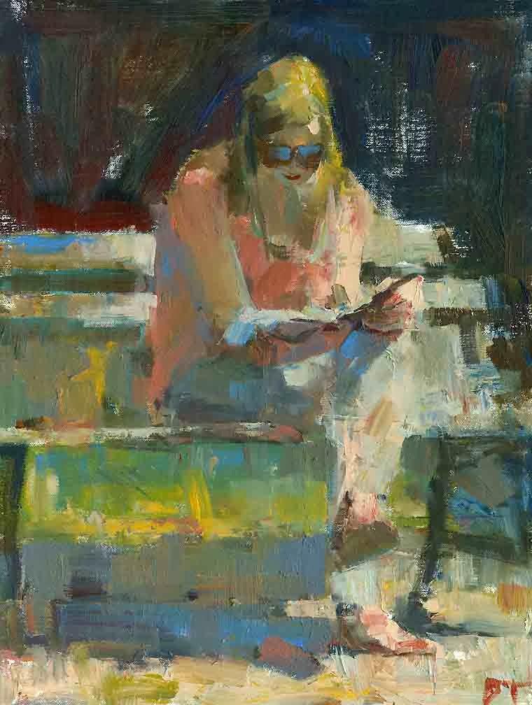 Darren Thompson Fine Art Park Bench
