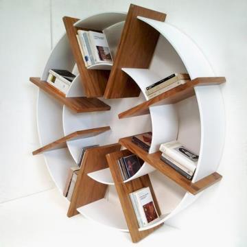 Mil ideas para la casa y el jardin librero circular for Librero escalera