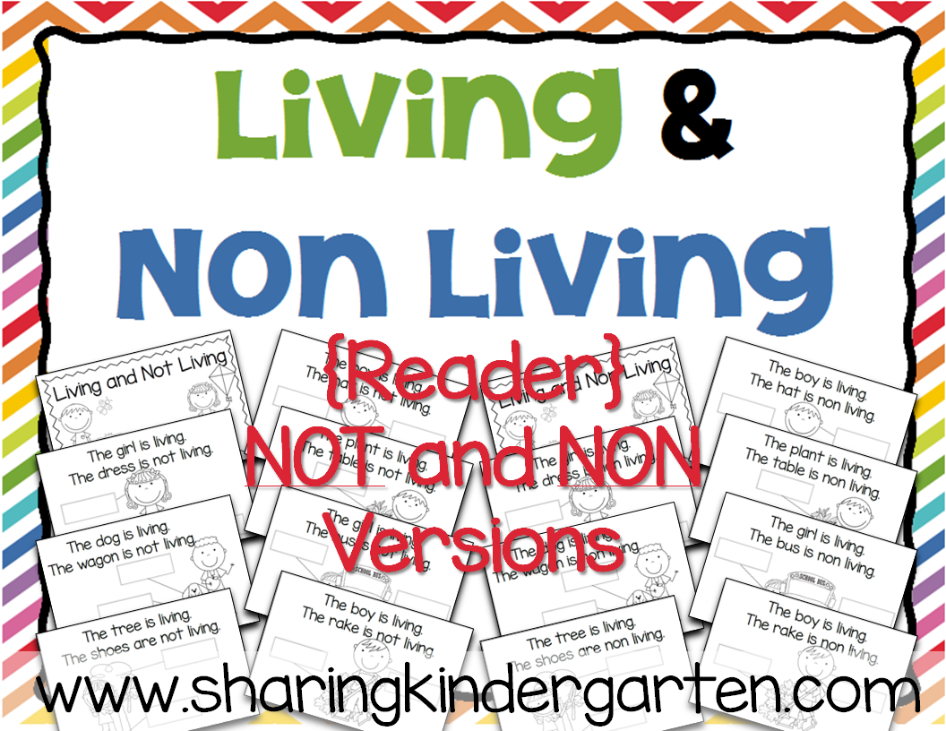 https://www.teacherspayteachers.com/Product/Living-and-Non-Living-Reader-1427059