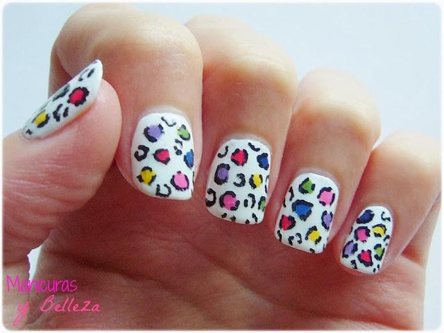 manicura nail art animal print leopard colours white uñas leopardo estampado nails beautyuk wild child pack multicolor reto colores esmalte astra nail polish