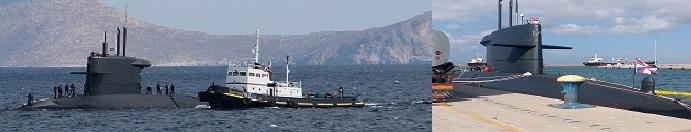 Στο λιμάνι του Ηρακλείου το Ολλανδικό υποβρύχιο