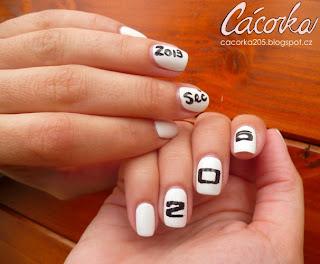 White 205 nails