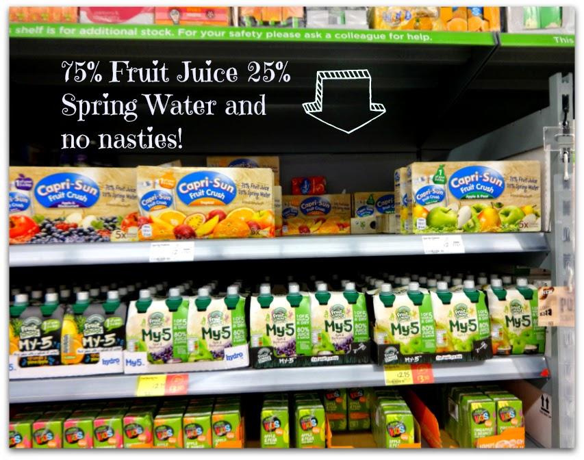 fruit juice and spring water Capri-Sun Fruit Crush