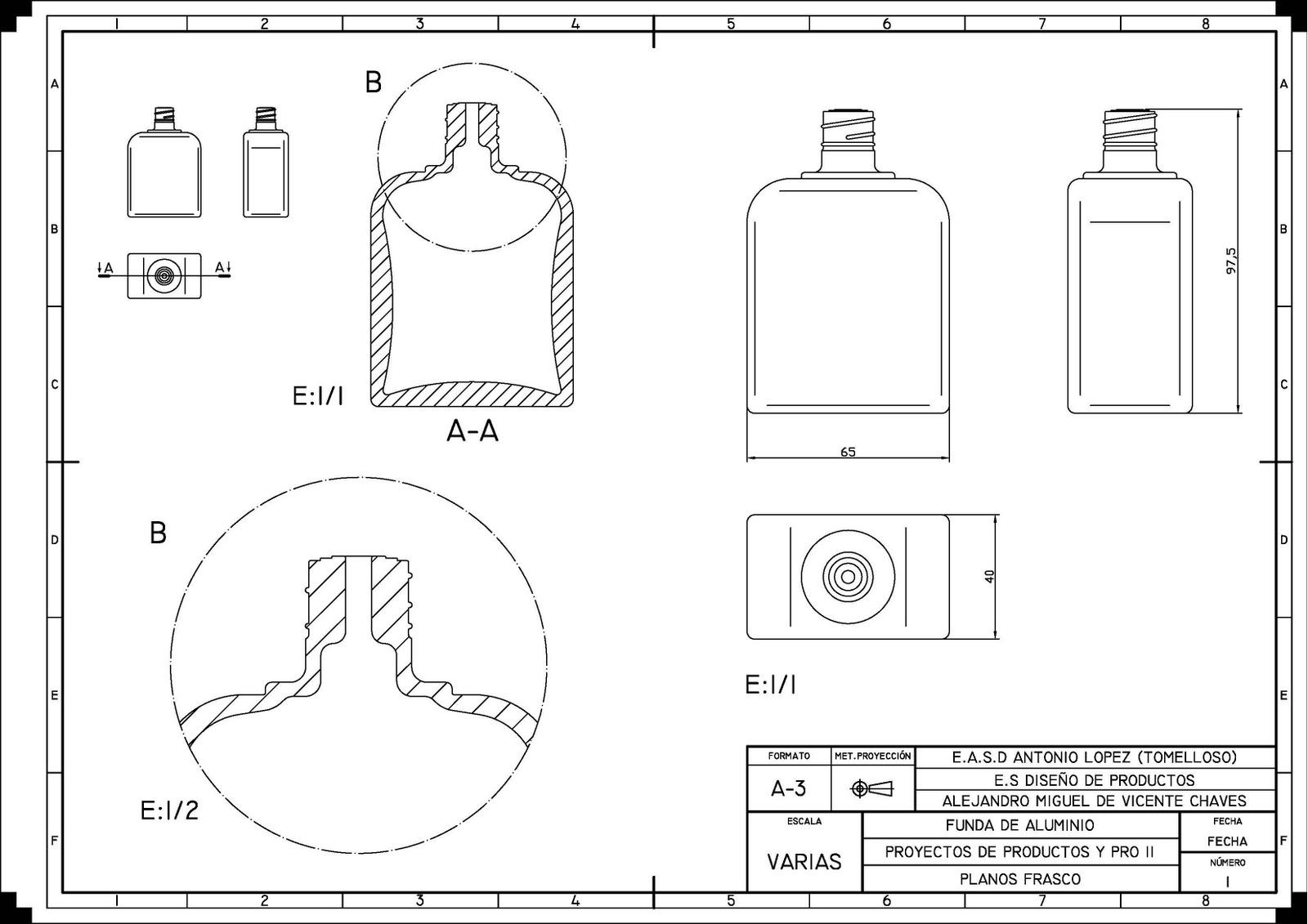 medidas de perfumes