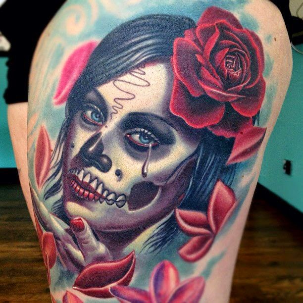 Amazing Catrina Tattoos Idea