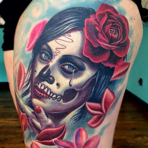 Amazing Catrina Tattoos Idea