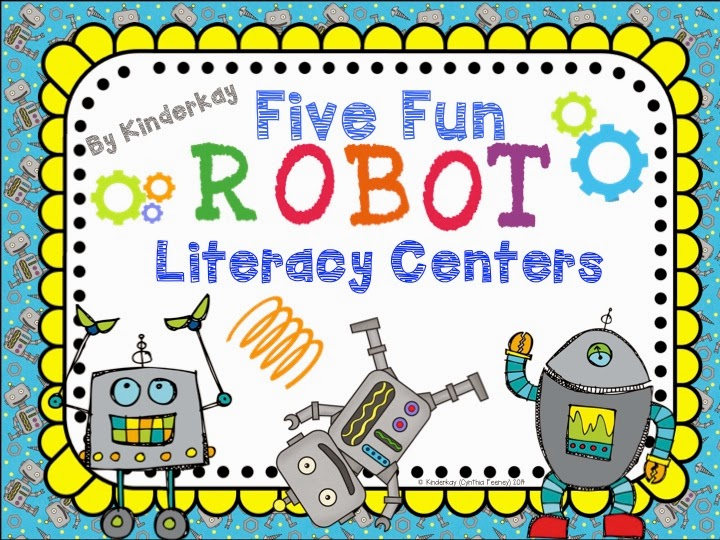 http://www.teacherspayteachers.com/Product/Five-Fun-Robot-Literacy-Centers-1132524