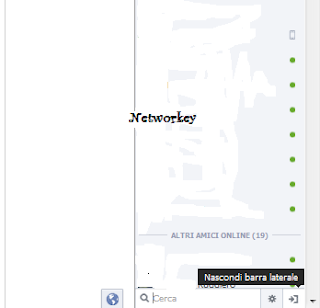barra laterale facebook