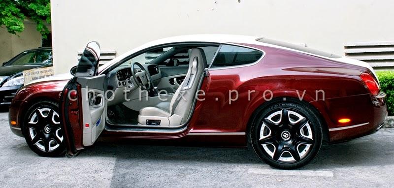 Cho thuê xe VIP Bentley Continental GT Đỏ mận 1