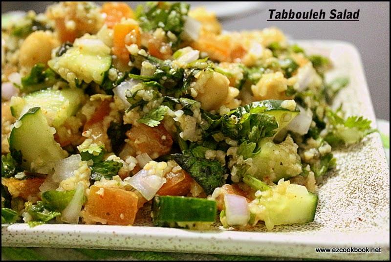 Tabbouleh Salad Recipe | Broken Wheat Salad | EzCookBook