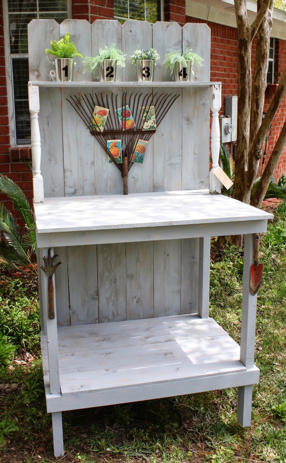 Coastal Charm Diy Potting Bench