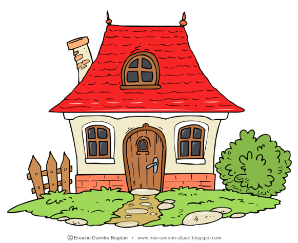 Free Cartoon Illustrations Clipart No Watermark Images Little Cottage Home Cartoon