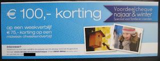 www.landal.nl/voordeelcheque 100 euro korting en voorkeursligging voor vrienden