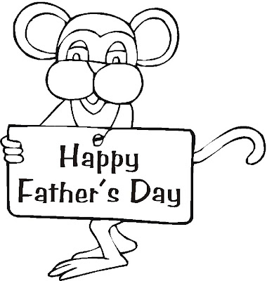 Fathers Day Cartoon Coloring Page