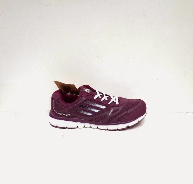 Sepatu cewek ungu, adidas running ungu, sepatu ungu