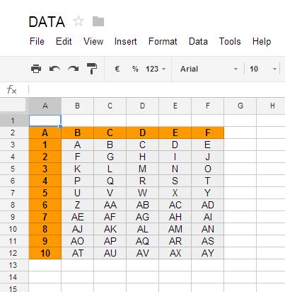 Google spreadsheet vlookup