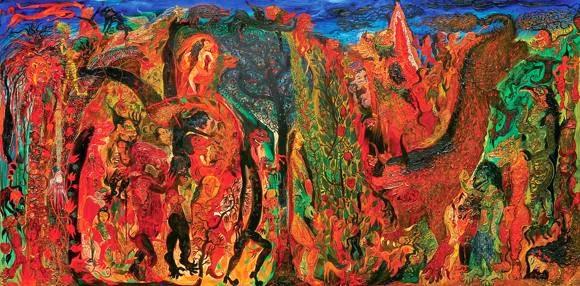 Lukisan Nasirun Mitos dan Legenda Alas Pasetran Gondo Mayit