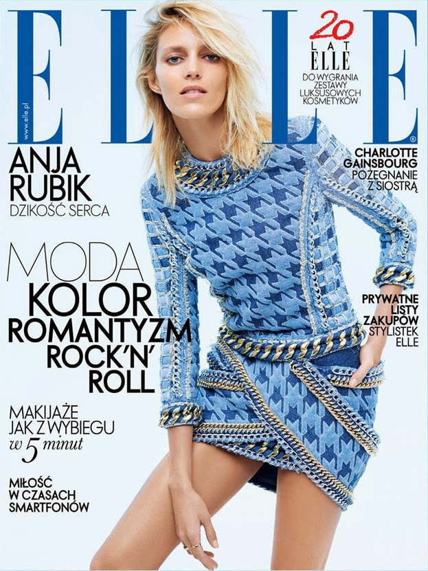 Anja Rubik Photos from Elle Poland Magazine Cover April 2014 HQ Scans