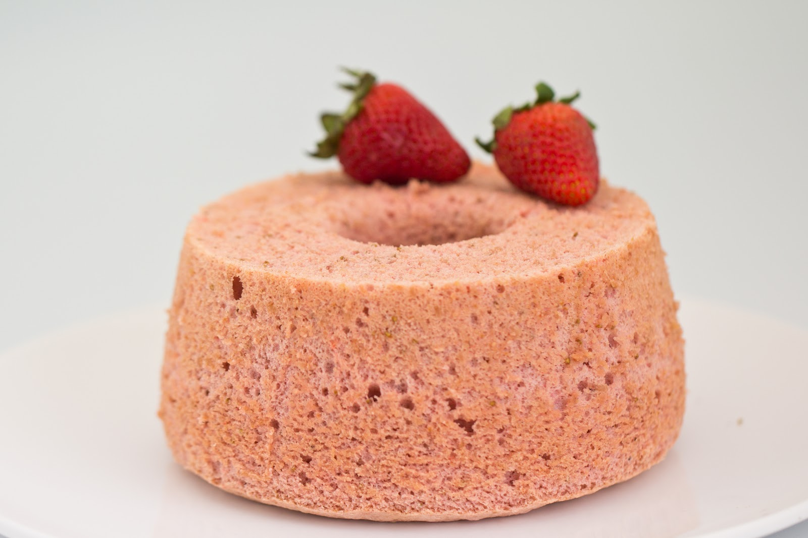 light cake with the taste of strawberries the cake is my ...