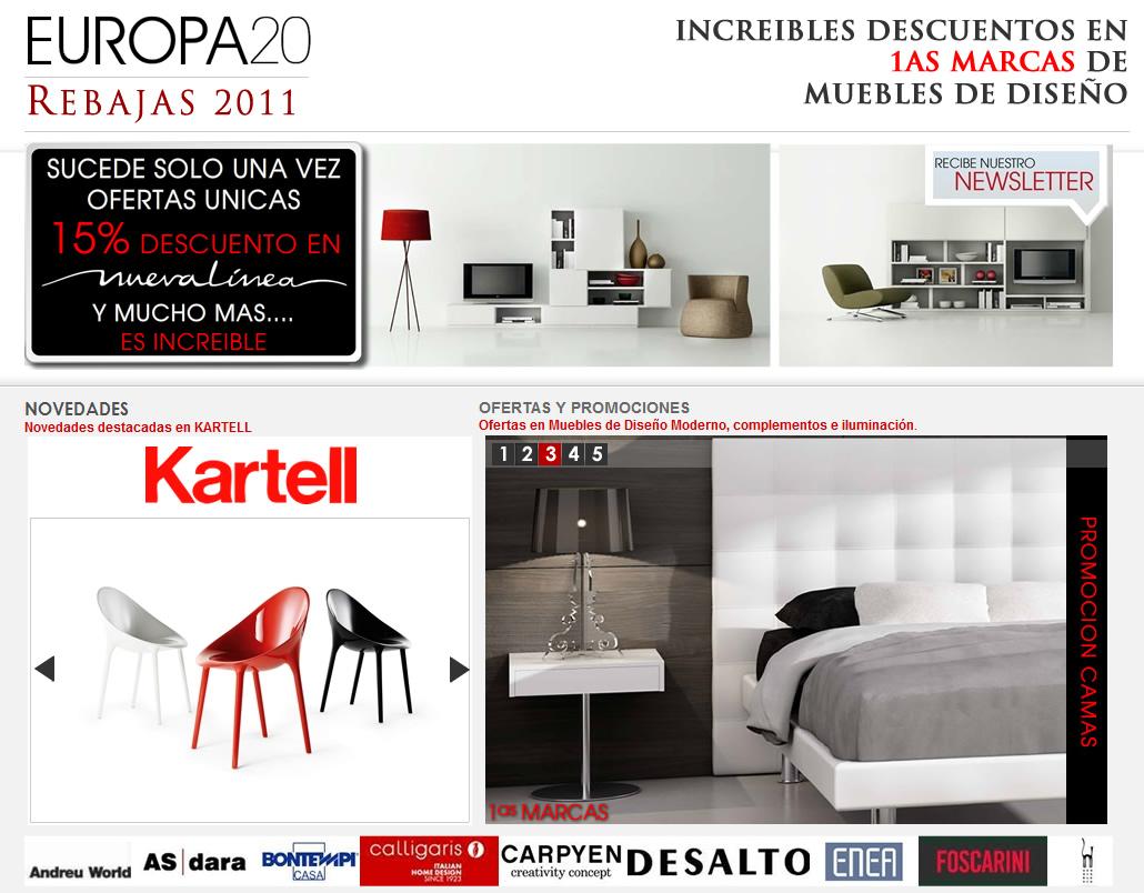 Muebles de dise o moderno y decoracion de interiores comienzan las rebajas en muebles de dise o - Outlet de muebles en madrid ...