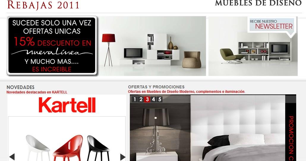 Muebles de dise o moderno y decoracion de interiores for Muebles online rebajas
