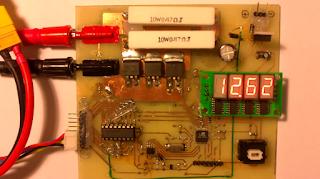 medição de resistência de bateria LiPo com AVR