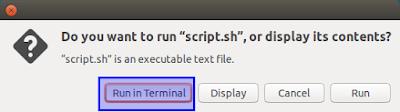 run in terminal