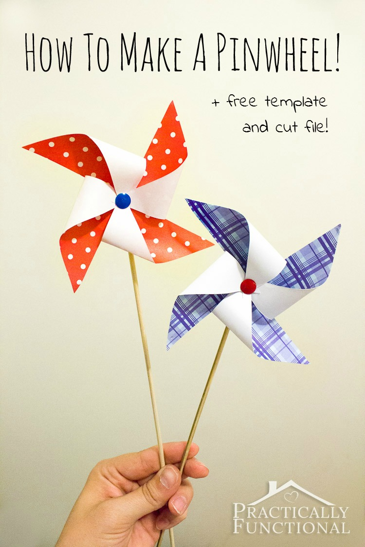 Patriotic Pinwheel DIY | 20 Crafts for the 4th of July - Independence Day DIYs | directorjewels.com