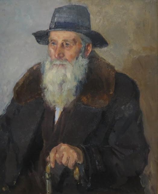 Николай Шелюто, Портрет старика, 1971
