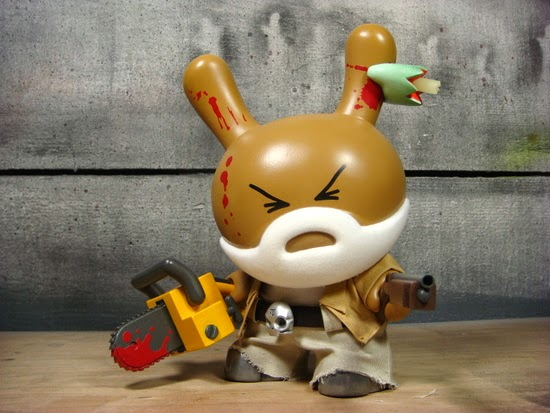World War Gee: Grandpa McGrizzled 8 Inch Custom Dunny Vinyl Figure by Huck Gee