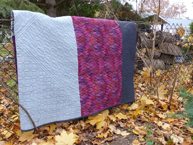 Folded view of the back of Carsick quilt.