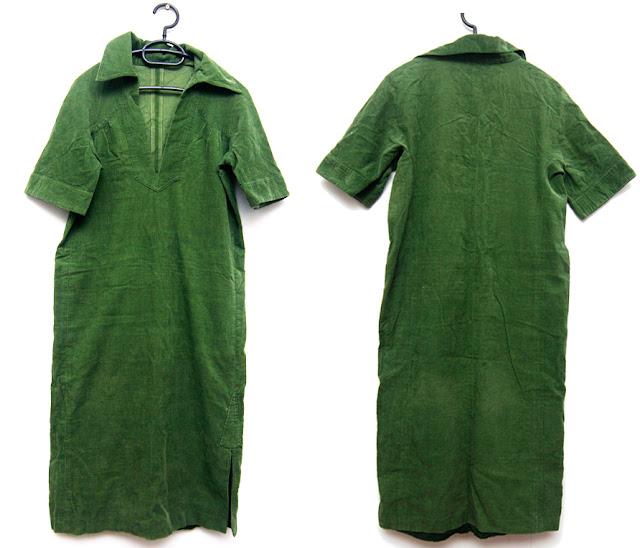 rochie sarafan unicat verde, midi