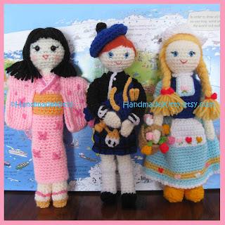 Free Onigiri Couple Amigurumi Crochet Pattern By Handmadekitty : HandmadeKitty: Regional Dolls Dutch Scottish Japanese ...