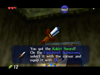 Ocarina of Time You Got the Kokiri Sword