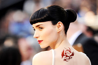 Rooney Mara Back Dragon Tattoo HD Wallpaper