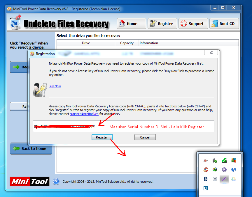 Aktivasi MiniTool Power Data Recovery 6.8