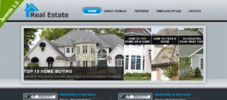 Free Real Estate Theme from VTEM for Joomla 1.5