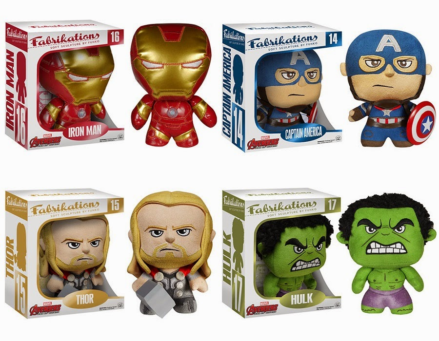 Marvel's The Avengers Age of Ultron Fabricatons Plush Figures by Funko - Iron Man, Captain America, Thor & Hulk