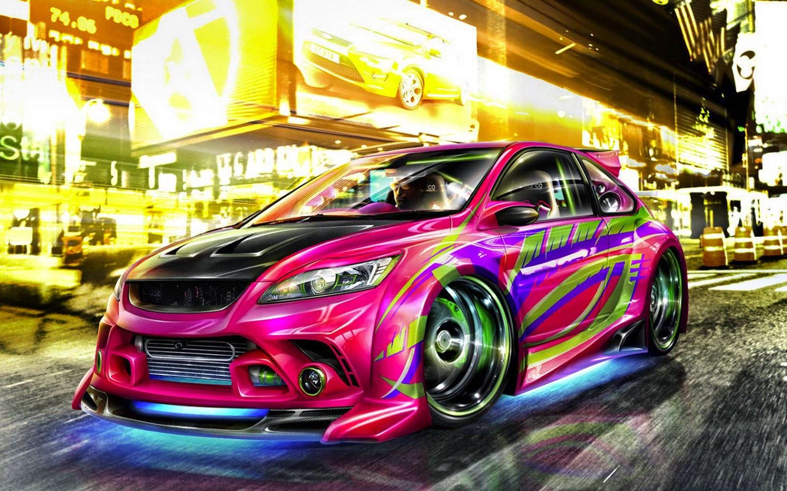 Papel de Parede Carro Tunado com Neon sports car wallpaper image hd free
