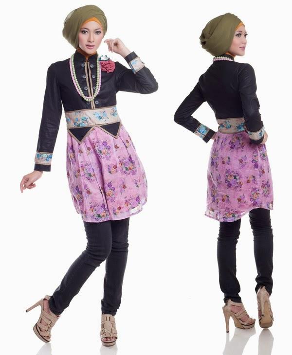 Contoh desain busana muslim remaja sederhana namun modis