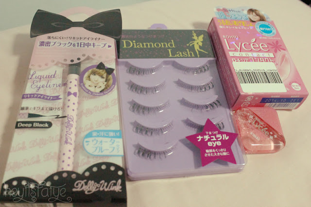Dolly Wink eyeliner Diamond Lash lower lashes Rohto Lycee