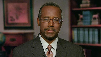 "Dr. Ben Carson on marriage equality in his own words: ""My thoughts are that marriage is between a man and a woman. It's a well-established, fundamental pillar of society and no group, be they gays, be they NAMBLA, be they people who believe in bestiality–it doesn't matter what they are–they don't get to change the definition."""