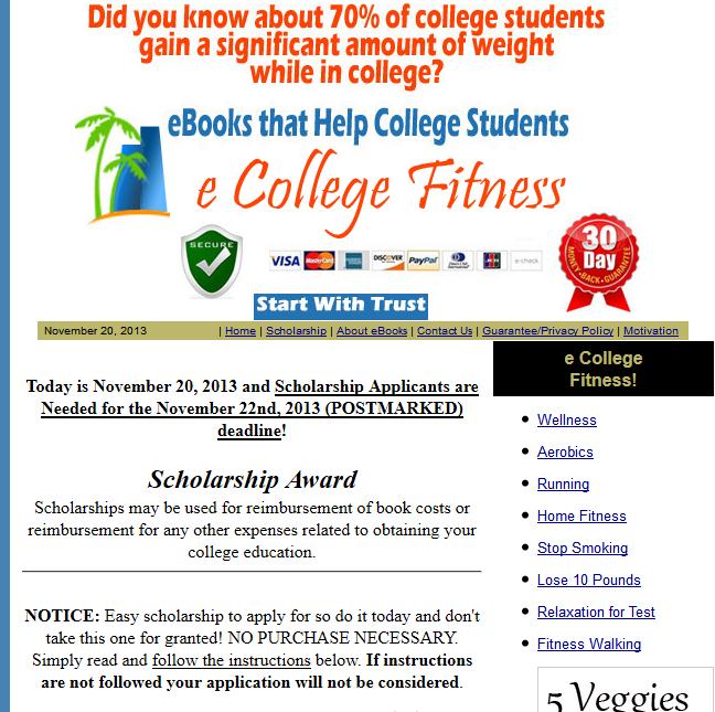 phishingpier fake scholarship ecollegefitness