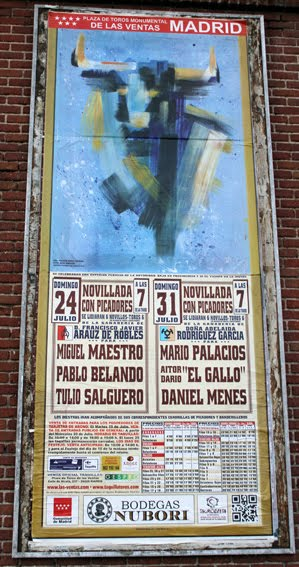 MADRID LAS DOS ULTIMAS NOVILLADAS CON PICADORES DE JULIO 2016..