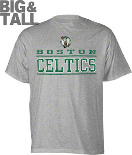 boston celtics big and tall t-shirt, boston celtics 3x 4x 5x t-shirt