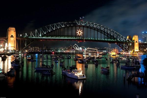 Barcos en la bahía de Sydney