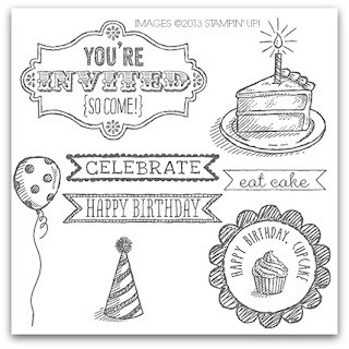 Stampin' Up! Sketched Birthday Stamp Set Artwork ©2013