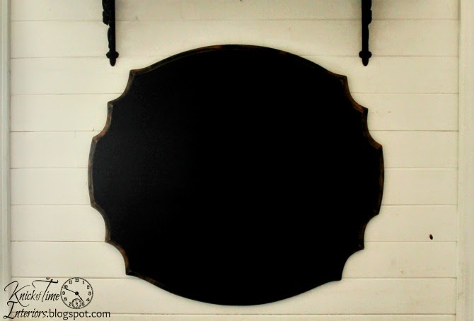Repurposed antique table chalkboard from knickoftimeinteriors.blogspot.com