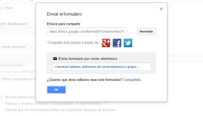 Crear formulario google codigo html