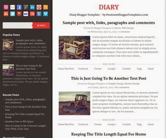 Diary Blogger Template